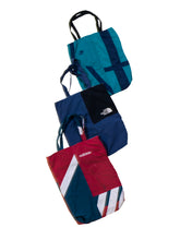 Load image into Gallery viewer, Versace Nylon Tracksuit Bottoms - Blue/White/Gold Metallic