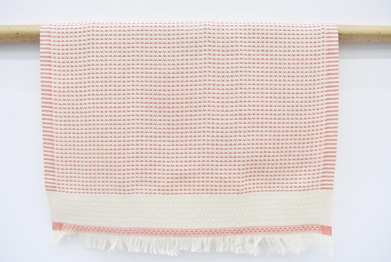Organic Cotton Handmade Tea Towel Orange