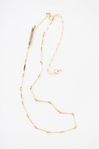 Gold-Filled Branded Chain Necklace