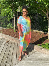 Load image into Gallery viewer, Caribbean Tie-Dye Maxi Dress