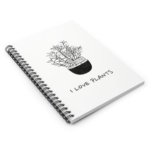 I LOVE PLANTS Notebook - Ruled Line