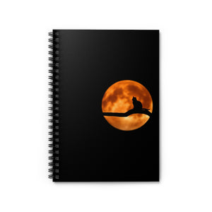 MOONLIGHT CAT Notebook - Ruled Line