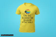 Load image into Gallery viewer, I'M THE RAINBOW SHEEP OF THE FAMILY Tee