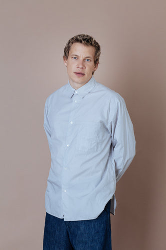 STILL BY HAND | Regular Collar Shirt | light grey | Baumwolle, Cupro