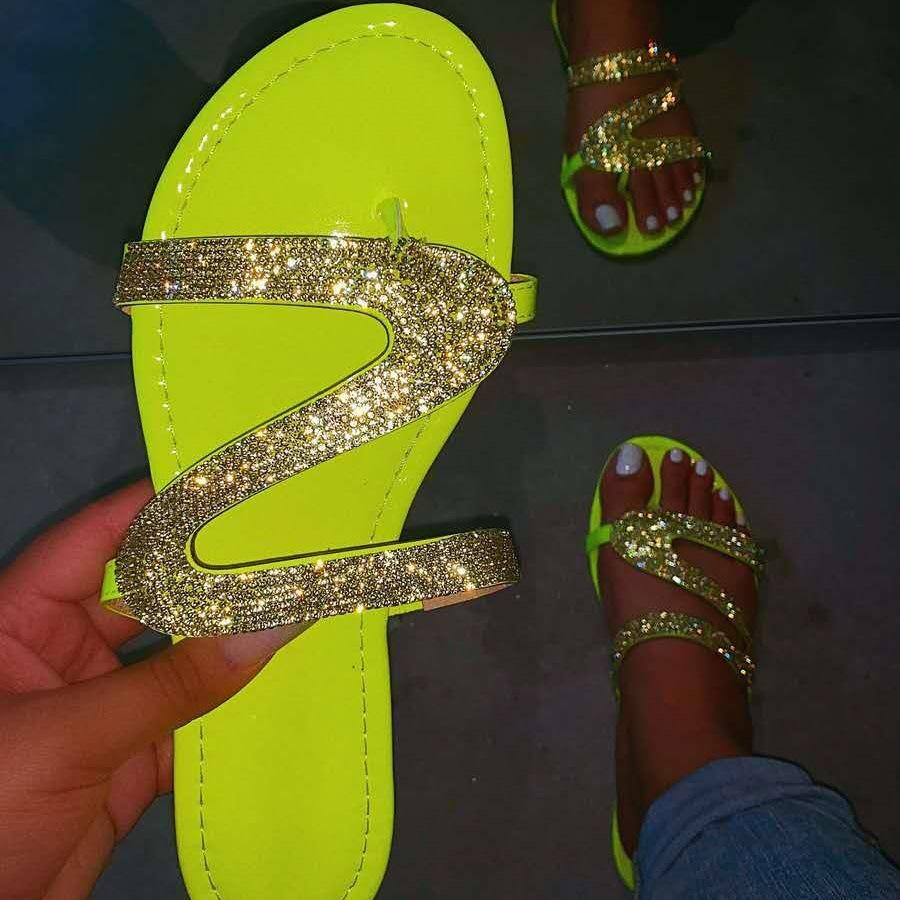 Summer beach  bling slippers