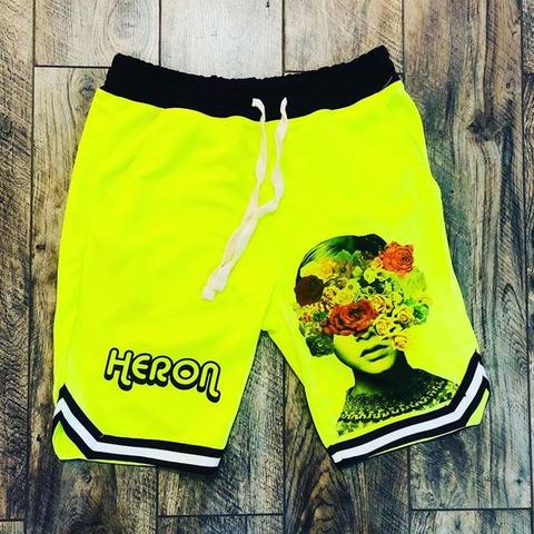 Fashion sports style printed shorts