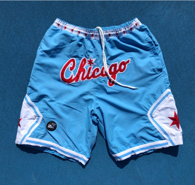 Chicago travel sports style shorts
