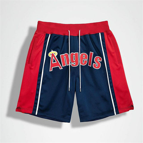Angels print men's basketball shorts