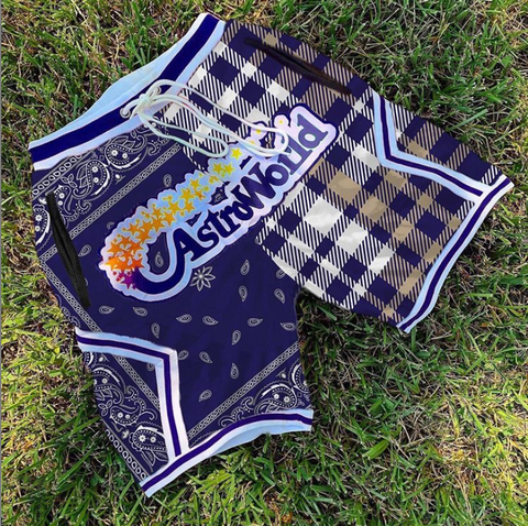 Printed sports style basketball shorts