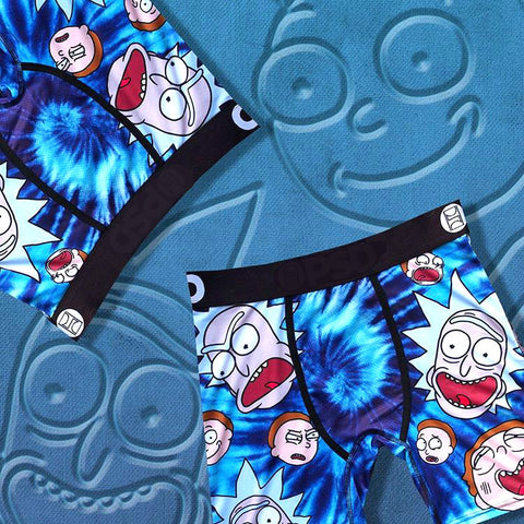 RICK AND MORTY print men's underwear shorts