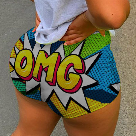 Funny OMG  sexy booty shorts