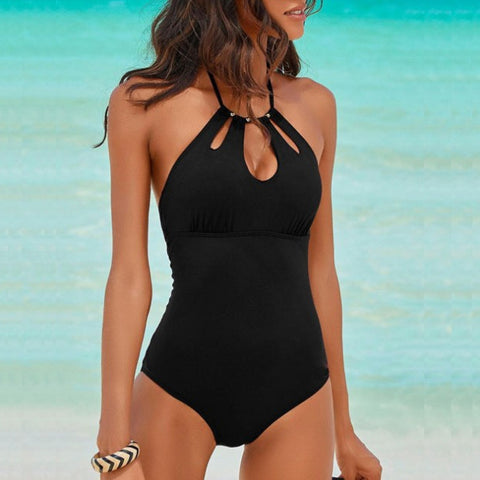 Halter Hollow One Piece