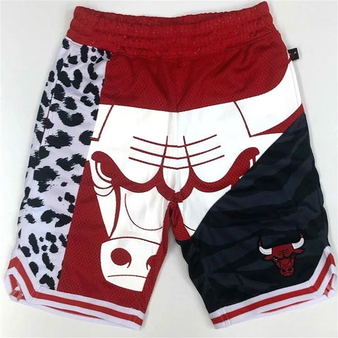 BULLS PRINT TEAR UP PACK SWINGMAN SHORTS