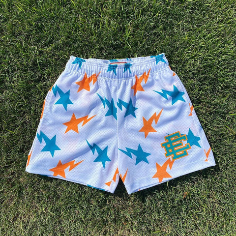 Spoof star print fashionable men's shorts