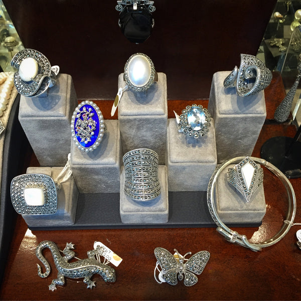 Luke stockley Silver Marcasite jewellery