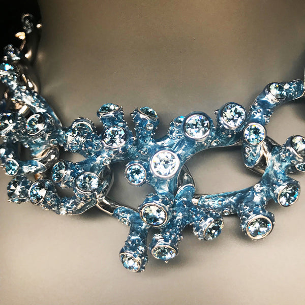 Simon Harrison 'Coral' Necklace in ice blue
