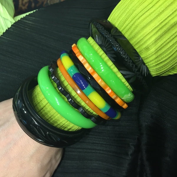 Some of my Bakelite bracelets