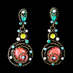 Konplott 'Twisted Lady' Blue Pierced Earrings (836180) Front