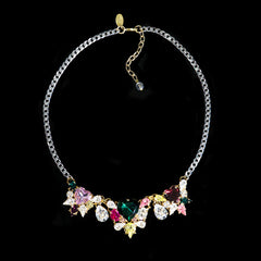 Anton Heunis 'Les Demoiselles' Multicoloured Triple Vintage Heart Crystal Necklace (MDS1.10) above