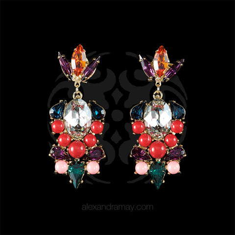 Anton Heunis 'Vintage Circus' Chandelier Drop Multicolour Earrings (VCR3.05) front