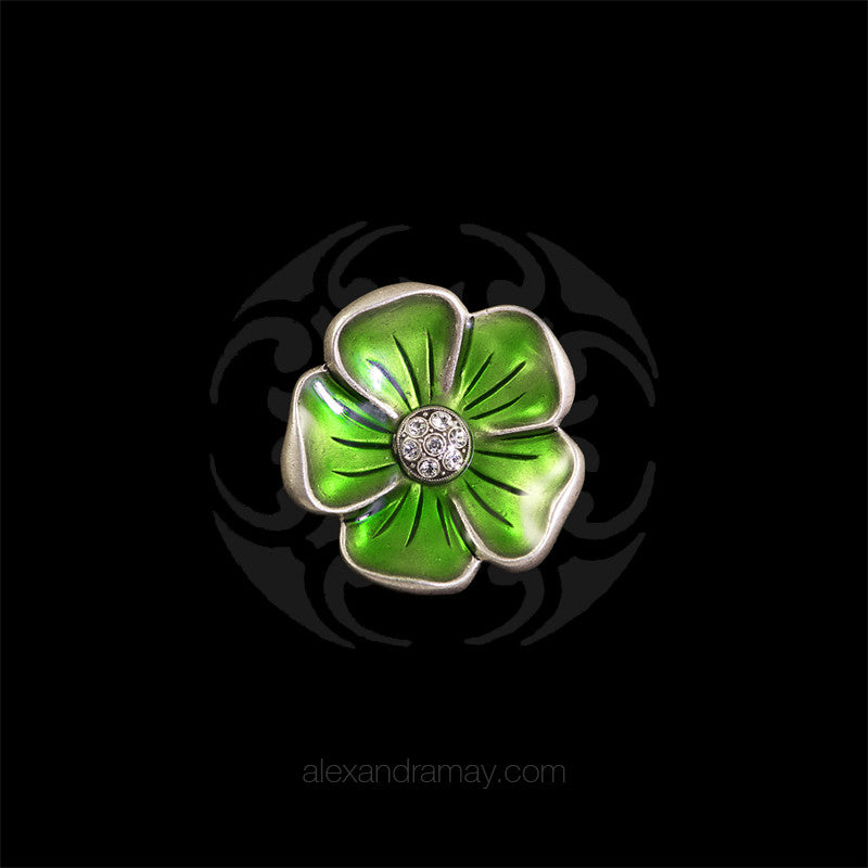 Au Bout Des Reves Lime Green Geranium Brooch (ABR162)