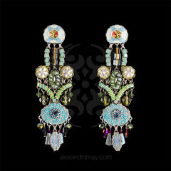 Ayala Bar 'Hip' Pastel Textile Drop Earrings (7390) front