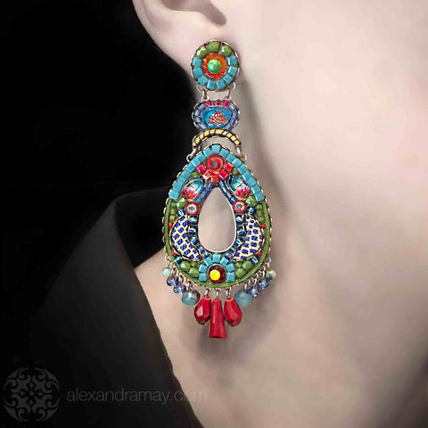 Ayala Bar 'Classic' Large Kahlo Earrings/Model (AB1285)