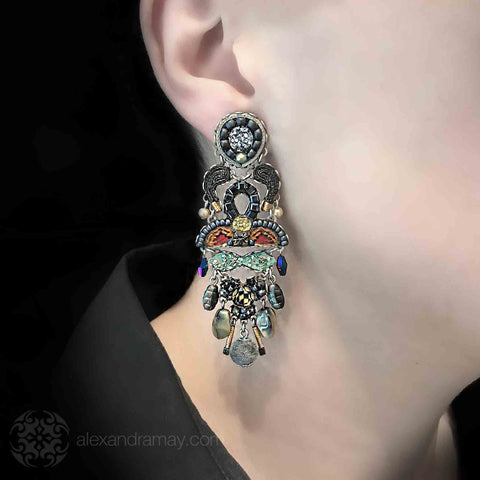 Ayala Bar 'Classic'  Dark Shimmer Earrings/model (AB1305)