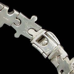 Cavendish French Sterling Silver Jigsaw Link Bracelet (CF2655)