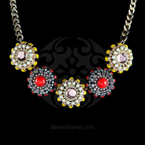 Anton Heunis 'Catrina' Multi Floral Necklace (CMX1.08) front