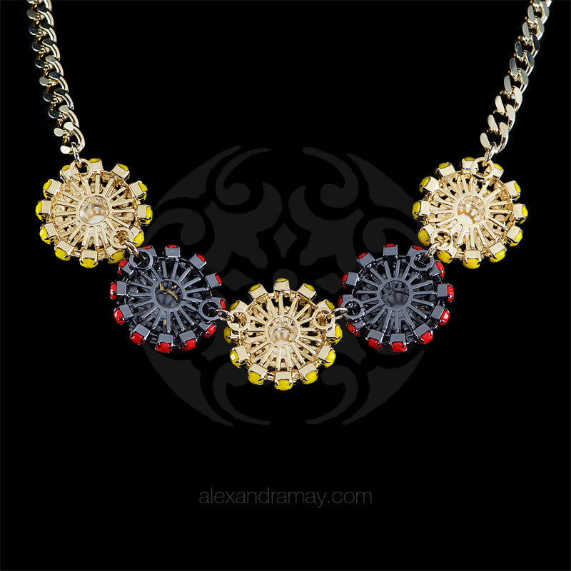 Anton Heunis 'Catrina' Multi Floral Necklace (CMX1.08) back