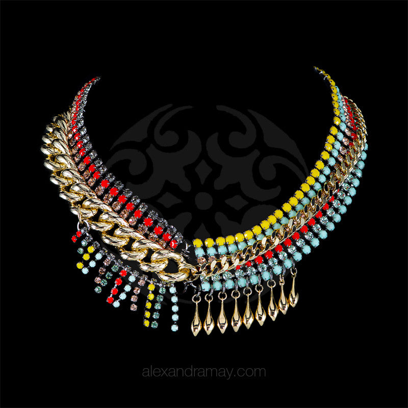 Anton Heunis 'Catrina' Asymmetric Statement Bib Necklace (CMX1.09)