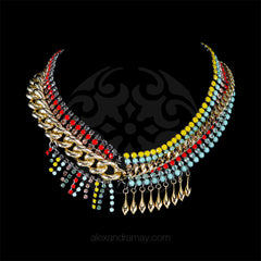 Anton Heunis 'Catrina' Asymmetric Statement Bib Necklace (CMX1.09) front