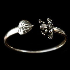 Sterling Silver Frog Bangle - main