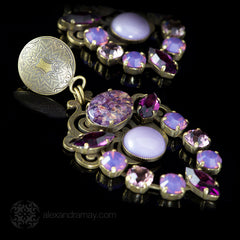 Jean-Louis Blin Lilac & Grape Chandelier Clip-on Earrings (JLB6610)