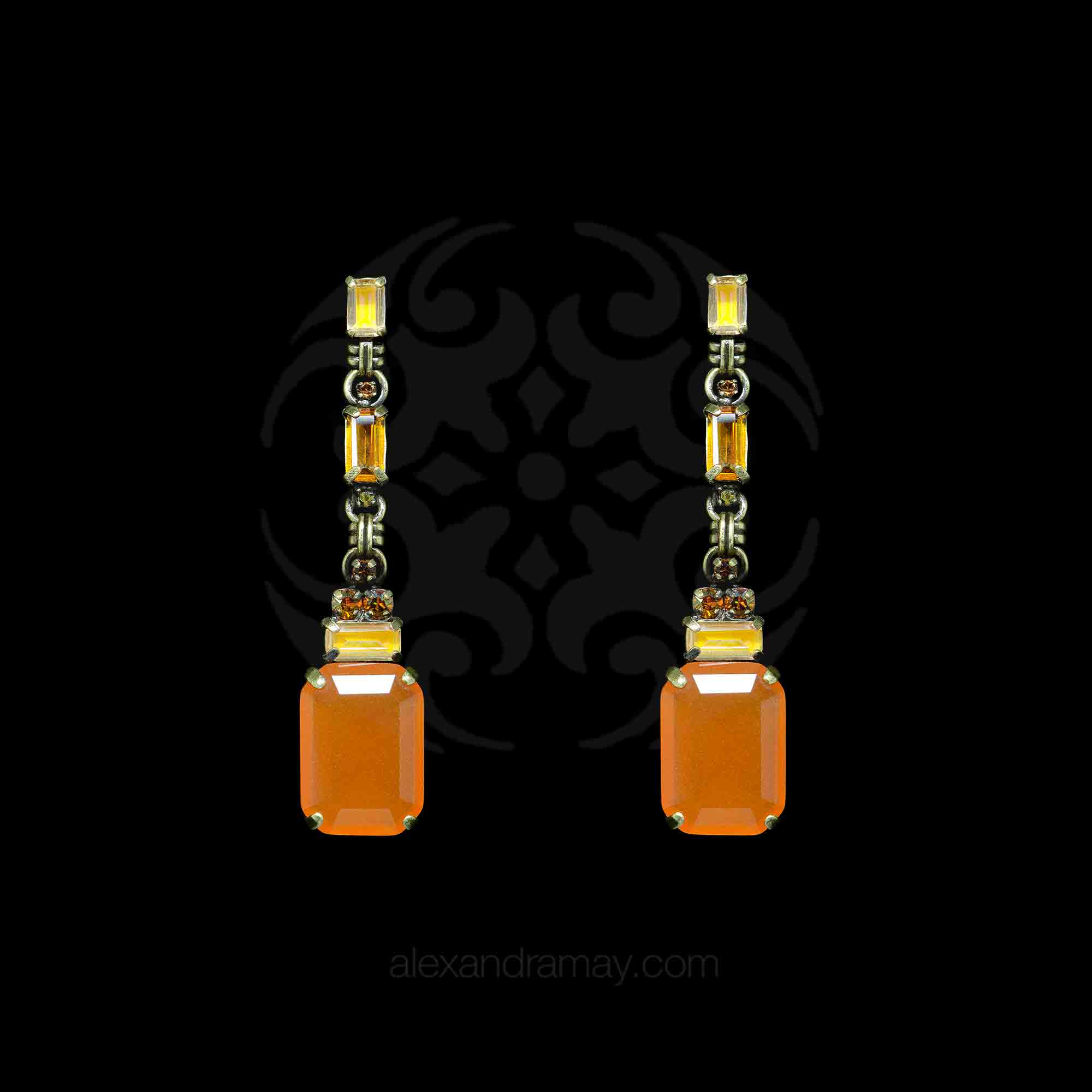 Konplott 'Aztec' Golden Amber Drop Earrings (354743)