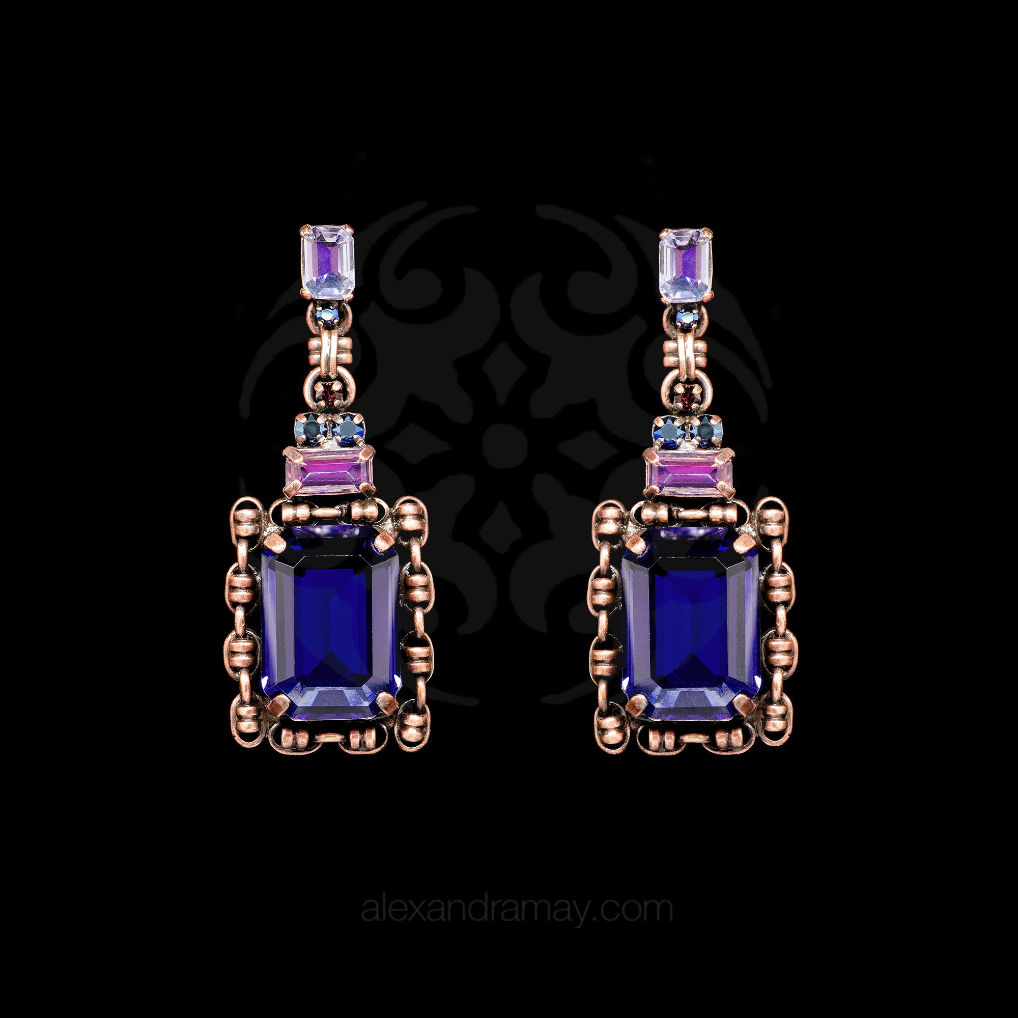 Konplott 'Aztec' Ultra Violet Drop Earrings (354910)
