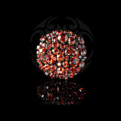 Konplott 'Ballroom' Giant Round Red Fire Crystal Ring (758429)