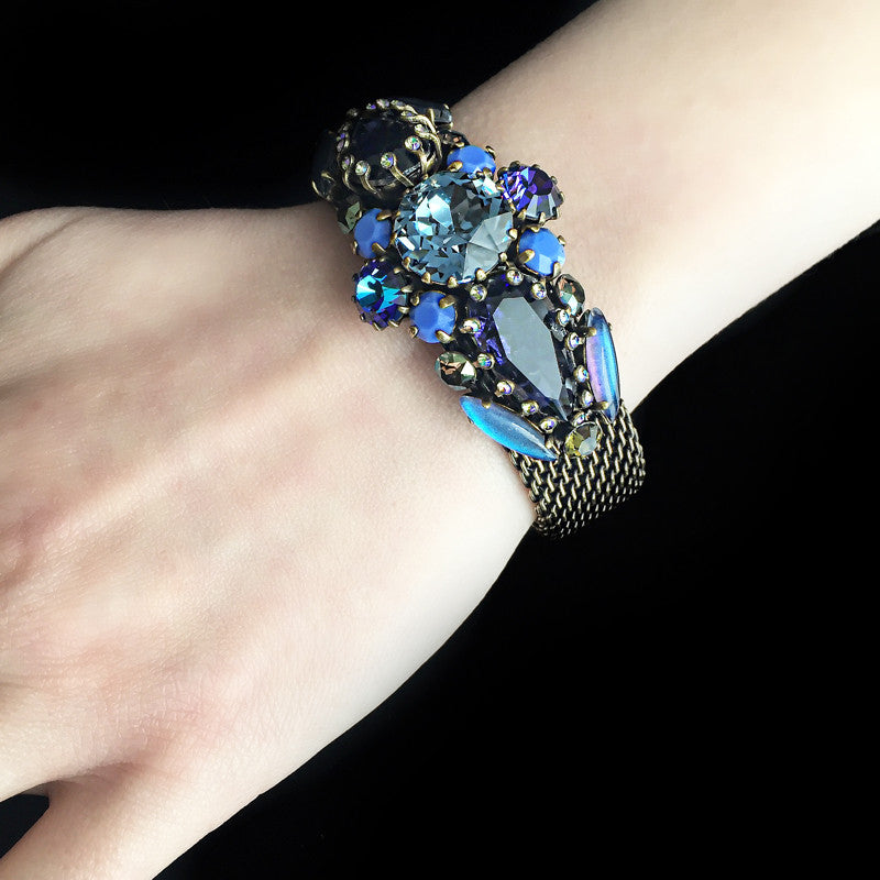 Konplott 'La Maitresse' Spectacular Jewelled Blue Bracelet (253367) model
