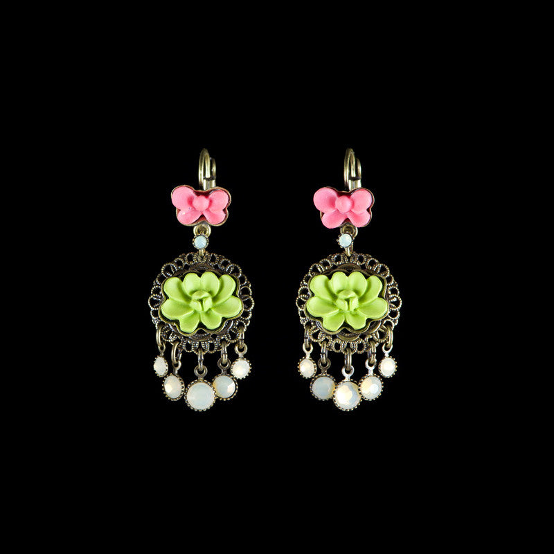 Konplott 'Macaroon' Small Pink & Green Hook Earrings (056999)