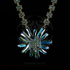 Konplott 'Manhattan Rocks' Spectacular Teal Crystal Necklace (149363)