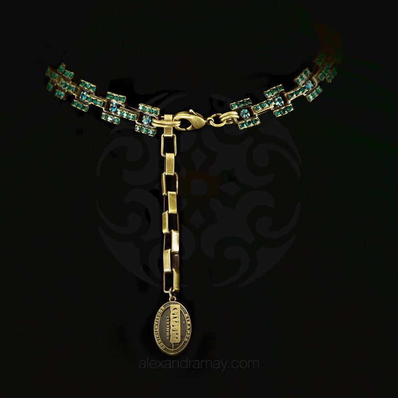 Konplott 'Manhattan Rocks' Spectacular Teal Crystal Necklace (149363) clasp