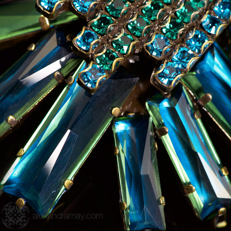 Konplott 'Manhattan Rocks' Spectacular Teal Crystal Necklace (149363) detail2