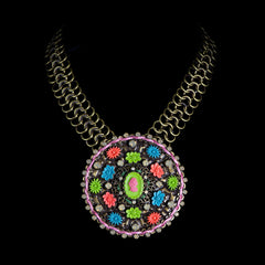 Konplott 'Macaroon' Large Disk Statement Necklace (051796)