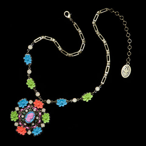 Konplott 'Macaroon' Flowers & Cameo Pendant Necklace (051826) above