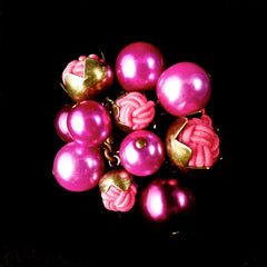 Konplott 'Bubble Pearls' Fushia Pink Ring (807395) Front