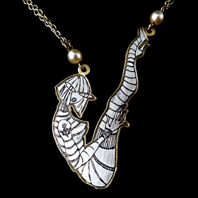 Konplott 'My Bonnie is Over the Ocean' Sailor Girl Necklace Detail