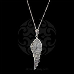 Luke Stockley Marcasite Wing Pendant (HP645O) back