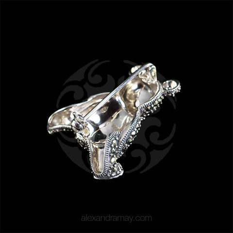 Luke Stockley Marcasite Teddy Bear Brooch (M3578)