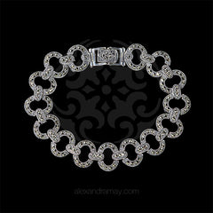 Luke Stockley Marcasite Oval Loop Link Bracelet (BR150) front